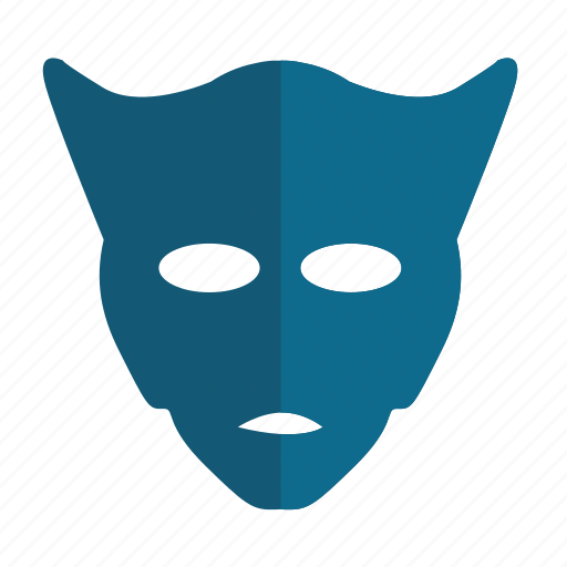 devil, hero, man, mask, party icon