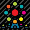 amusementpark, bigwheel, fair, ferriswheel, funfair icon
