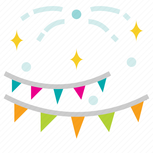 confetti, newyears, party icon