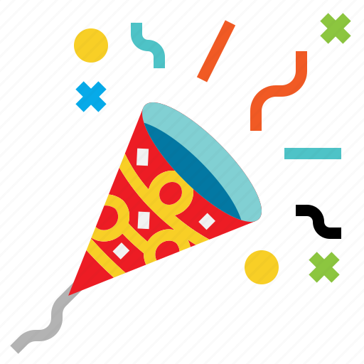 confetti, newyears, party, patern icon