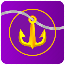 anchor, app, salor, sea, theme icon