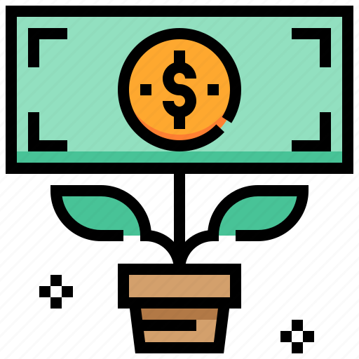 currency, dividend, income, money icon