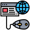click, dropship, earth, internet, website icon