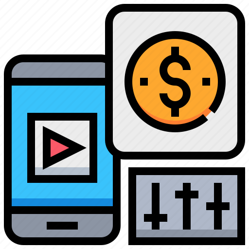 adjustment, app, currency, mobile, money, smartphone icon