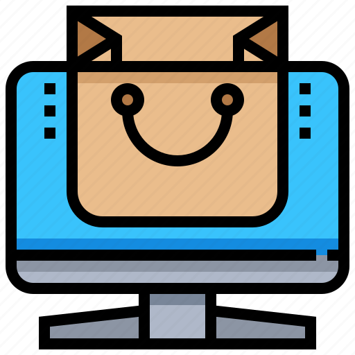 bag, computer, desktop, online, shoping, store icon