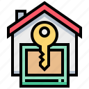 home, house, key, property, rental, security icon