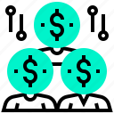 currency, dollar, human, money, sponsor icon