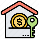 fee, housing, income, property, rental icon