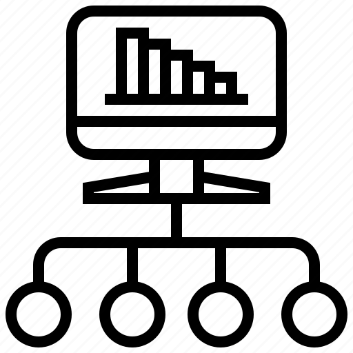 chart, computer, graph, marketing, referral icon