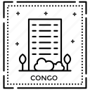 congo monogram, congo stamp, passport logo, postage stamp, seal stamp icon