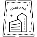 louisiana logo, louisiana stamp, passport stamp, seal stamp, visa stamp icon