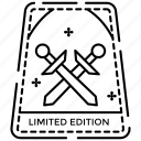 limited edition, limited edition logo, passport stamp, postage stamp, stamp sticker icon