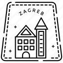 country logo, passport stamp, state monogram, zagreb label, zagreb monogram