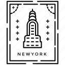 emblem, foreign stamp, new york stamp, passport stamp, print mark