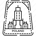 city badge, passport stamp, poland label, poland stamp, visa mark