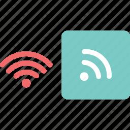 computer, internet, network, signals, smart phone, wifi, wireless icon