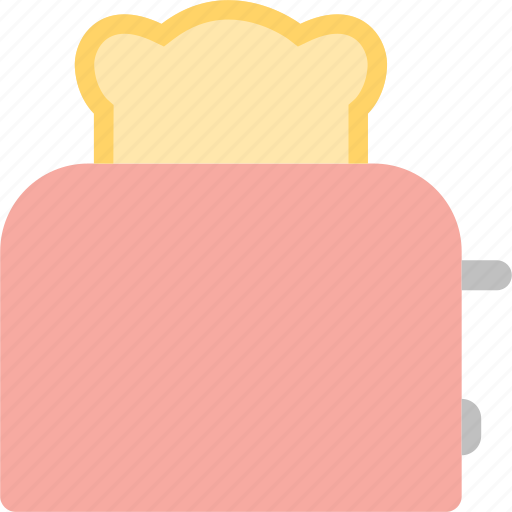bread, breakfast, cook, kitchen, lunch, toast, toaster icon