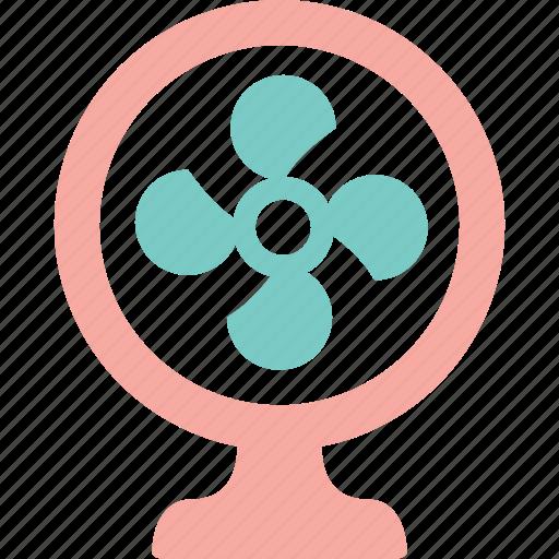 breeze, cool, electric fan, fan, heat, summer, wind icon