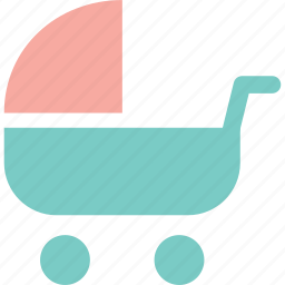 baby carriage, care, infant, stroller icon