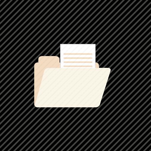 business, folder, opened, pastel icon