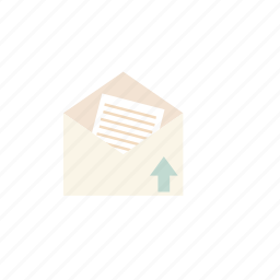 business, pastel, send mail icon