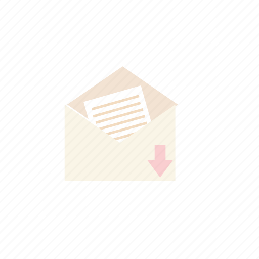business, inbox, pastel icon