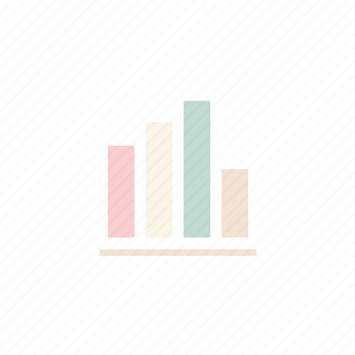 business, graph, pastel icon