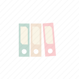 business, folder, pastel icon