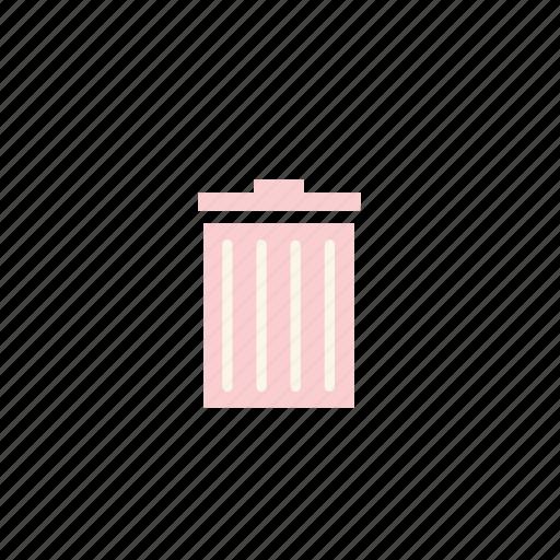 bin, business, garbage, pastel, trash icon