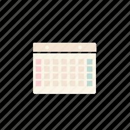 business, calandar, pastel icon