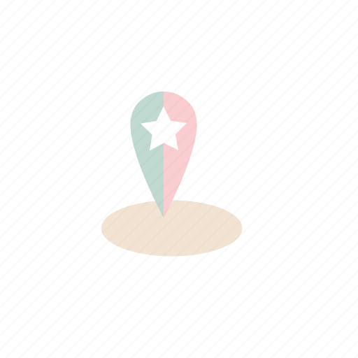 business, location, pastel icon