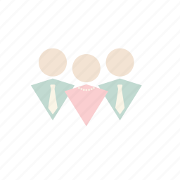 business, meeting, pastel icon