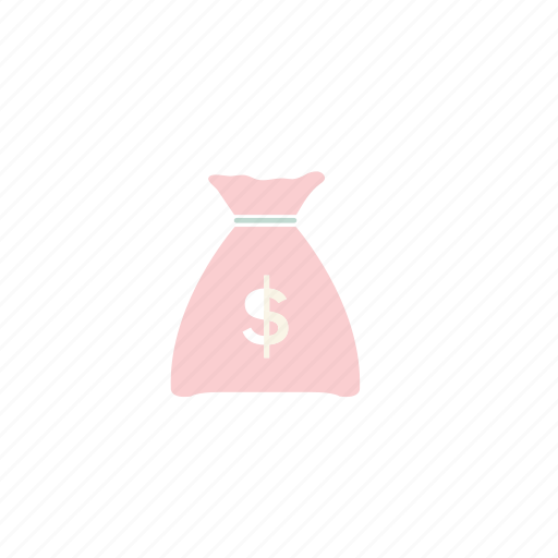 business, coin, coins, dollars, pastel icon