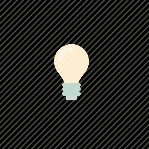 business, idea, light, pastel icon