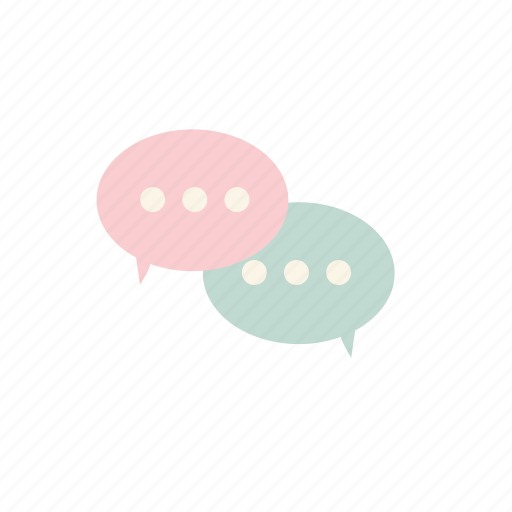 business, chat, pastel icon