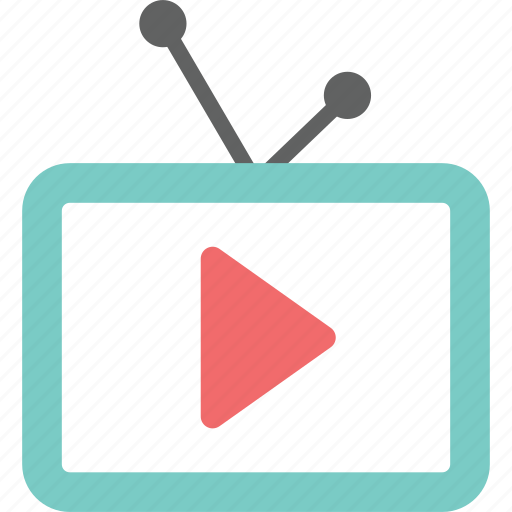 computer, film, media, monitor, movie, tv, video icon