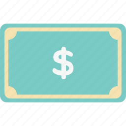 banknote, bill, commerce, dollar, financial, money, shopping icon