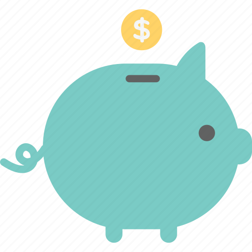 banking, coin, commerce, dollar, financial, money, piggy bank icon