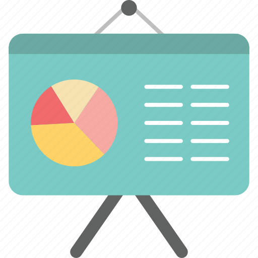 banking, blackboard, chart, commerce, graph, pie chart, presentation icon