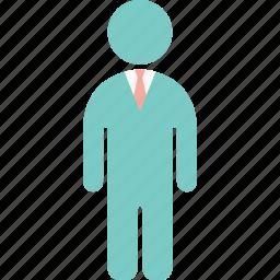 business man, employee, man, manager, operator, teller, work icon