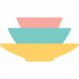 bowl, dish, dishes, food, meal, plate, tableware icon