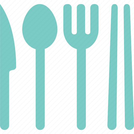 chopsticks, eat, fork, knife, meal, spoon, tableware icon