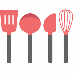 cook, cooking, fritter tender, ladle, paddle, utensil, whisk icon