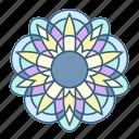 decoration, floral, flower, mandala, nature, ornament icon