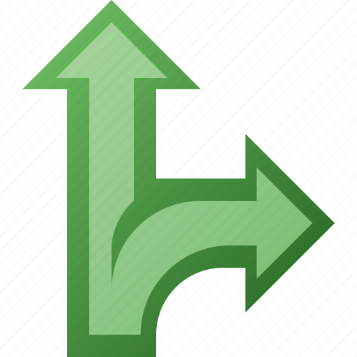 arrow, branch, split icon