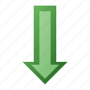 arrow, bottom, down icon
