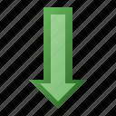 arrow, bottom, down