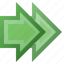 arrow, double, end, forward, last, next, twice icon