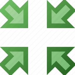 arrow, in, shrink icon