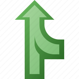 arrow, merge icon